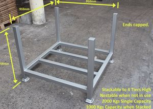 Picture of Powder Coated Rigid Stillage Cage