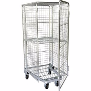 Picture of Budget Stock Trolley Full Cage Roof and Door